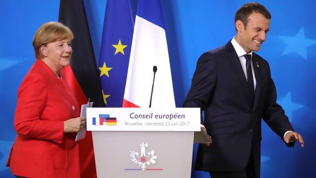 Merkel folgt auf Macron