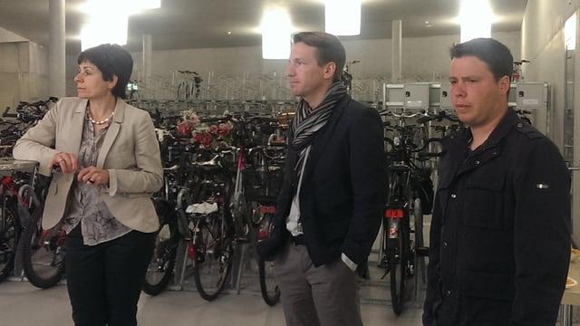 Stadträtin Patrizia Adam, Rolf Geiger (Geschäftsleiter Region AR-SG-Bodensee) und Stefan Pfiffner (Verkehsplanung SG)