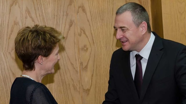 Bundesrätin Simonetta Sommaruga und der bulgarische Innenminister Tsvetlin Yovchev