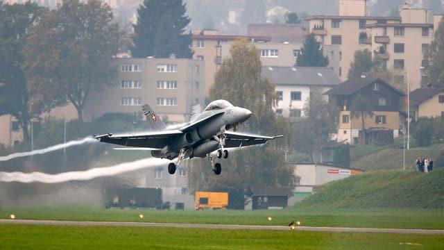 FA/18 in Emmen (Archivbild)