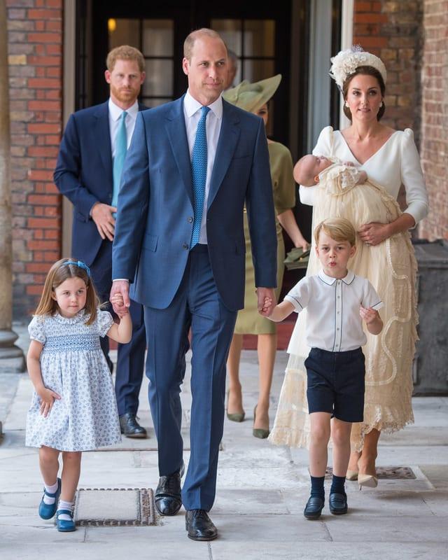 William mit George und Cahrlotte