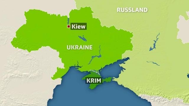 Die Halbinsel Krim liegt im Schwarzen Meer.