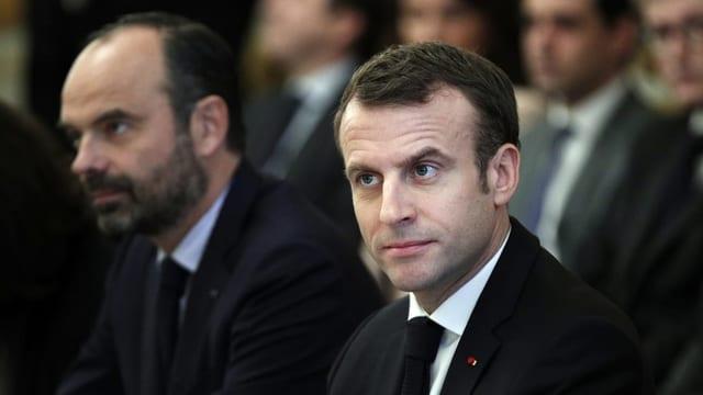 Premierminister Edouard Philippe und Präsident Emmanuel Macron.