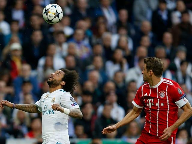 Real Madrid Spieler und Bayern Spieler