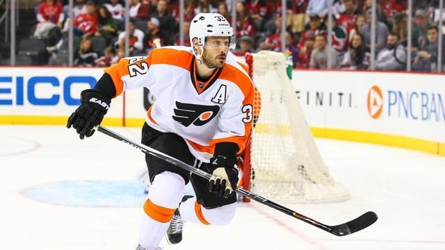 Mark Streit während einem Spiel seiner Philadelphia Flyers.