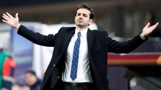 Inter Mailand mit Trainer Andrea Stramaccioni droht eine empfindliche Busse.