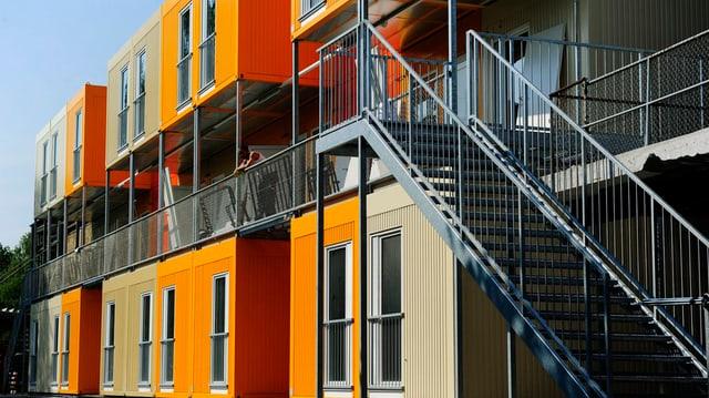 Asyl-Containersiedlung in Zürich-Leutschenbach, das baulich als Vorbild für das Testzentrum dient