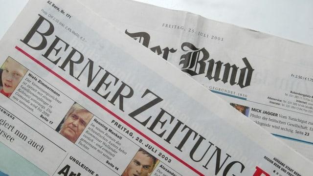 Titelblätter von Bund und BZ.