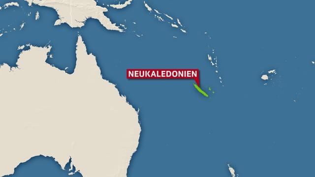 Karte Neukaledonien