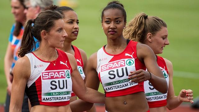 Die Schweizer Staffelläuferinnen.