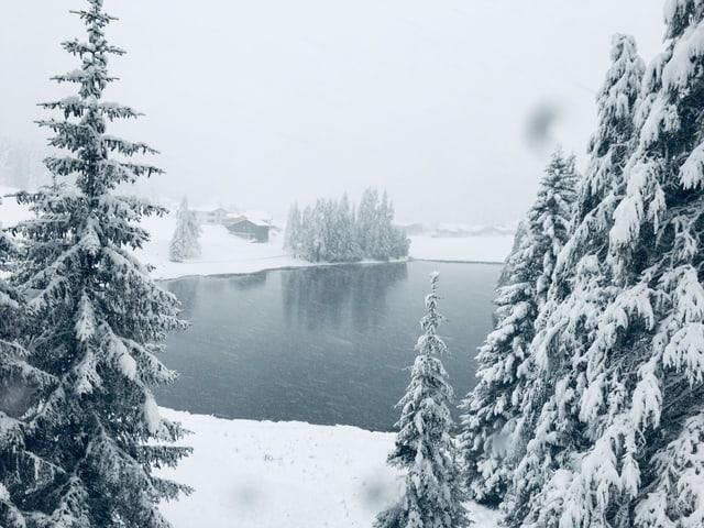 Schnee in Davos