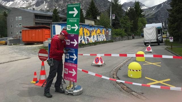 Paul Hafner hilft an der Tour de Suisse mit