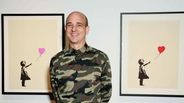 Ein Porträt von Steve Lazarides.