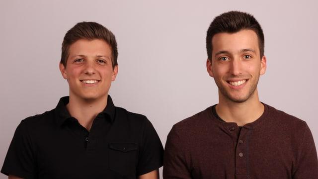 Die Entwickler des Alarmmelders: ZHAW-Bachelor Absolventen Pascal Holenstein (l.) und Sandro Ragusa.
