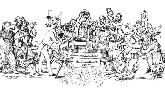 Karikatur zur neuen Bundesverfassung