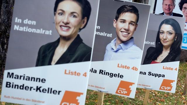 CVP-Plakate im Aargau