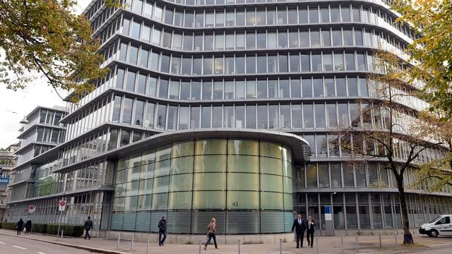 Das Hauptgebäude der Privatbank Vontobel an der Gotthardstrasse in Zürich.