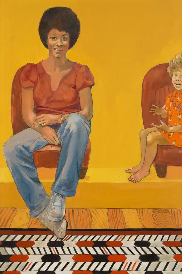 Emma Amos: «Eva the Babysitter», 1973.