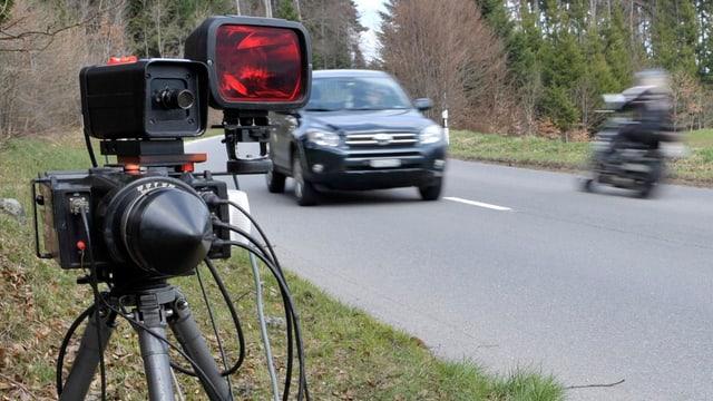 Radargerät an Strasse
