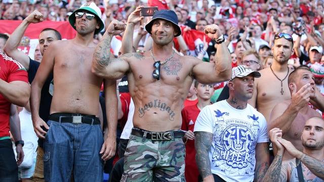 Ungarische Hooligans