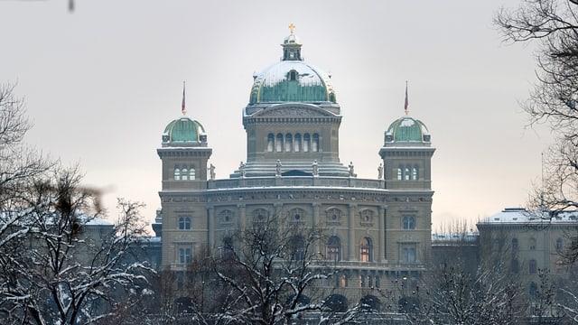 Bundeshaus im Winter