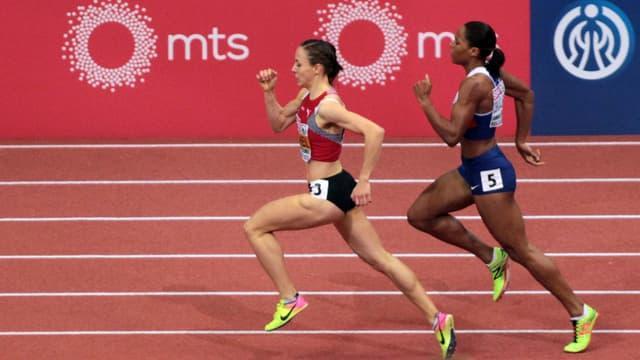 Selina Büchel beim Laufen.