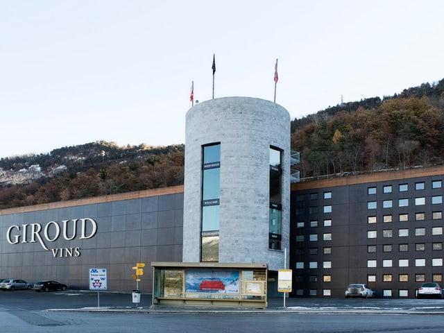 Die Gebäude von Giroud Vins in Sitten.