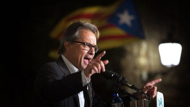 Artur Mas während einer Rede