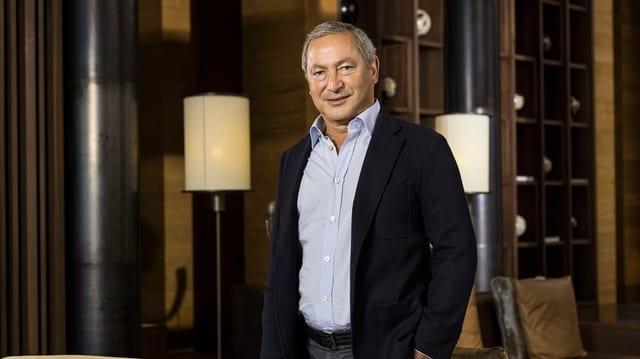 L'investider egipzian Samih Sawiris po s'allegrar sin cifras cotschnas per l'onn da fatschenta 2014.