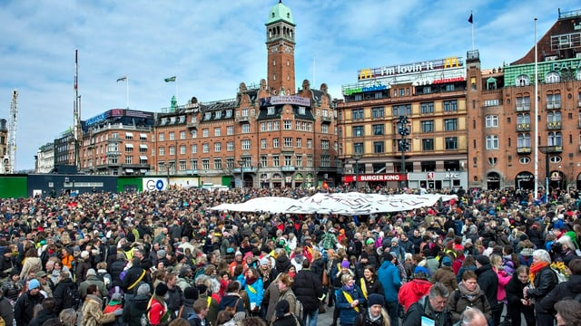 Dänische Lehrer demonstrieren am 10. April 2013 in Kopenhagen.