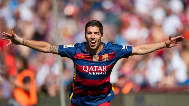 ballapedist Luis Suarez sa legra