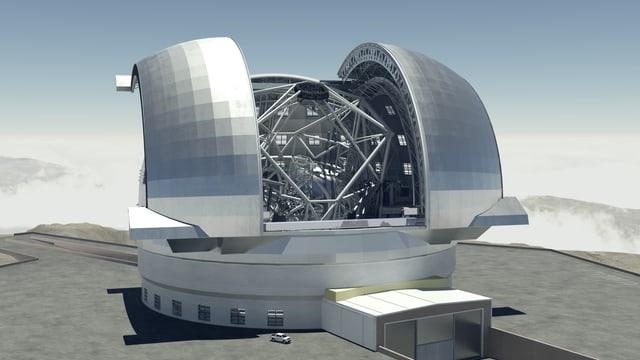 Diese künstlerische Darstellung zeigt das geplante Eso-Teleskop, das in rund zehn Jahren in Betrieb gehen soll.