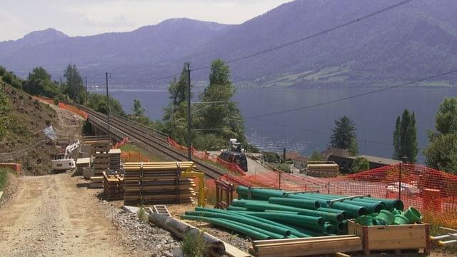Baustelle am Zugersee-Westufer