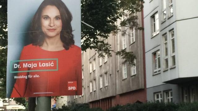 Maja Lasić, Wahlplakat