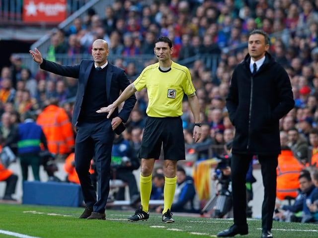 Zinédine Zidane und Luis Enrique