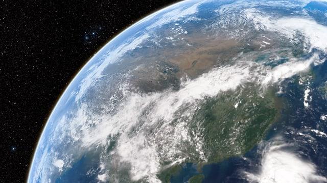 Der Planet Erde, eine Aufnahme aus dem Weltall.