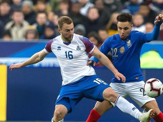 GC-Spieler Sigurjonsson im Länderspiel gegen Frankreich.