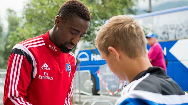 Johan Djourou im HSV-Training.