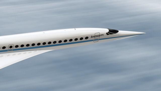 Der Frontpartie des Boom-Jets, grafisch umgesetzt vom Unternehmen.