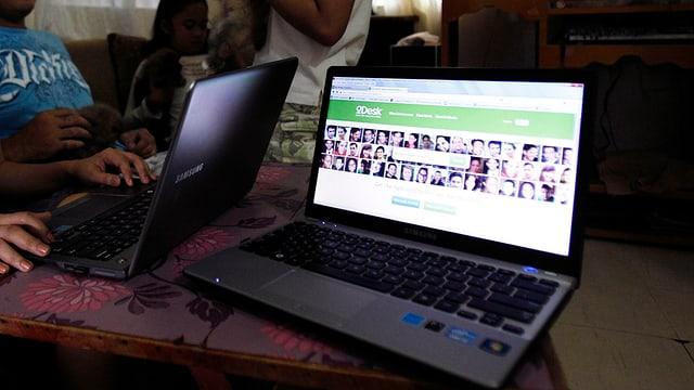 Crowdsourcing-Arbeiter in Manila (Symbolbild)