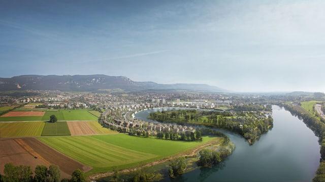 Die Wasserstadt in der Visualisierung von Herzog & de Meuron.