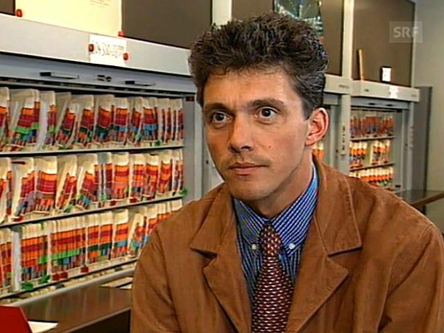 Bundesanwalt Michael Lauber 1997 im 10vor10 von Schweizer Fernsehen.