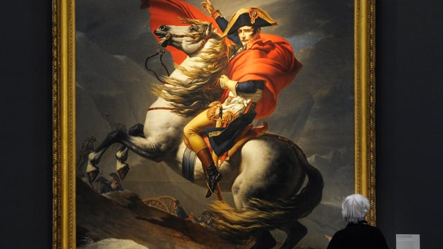 Bild mit Napoleon auf einem Pferd