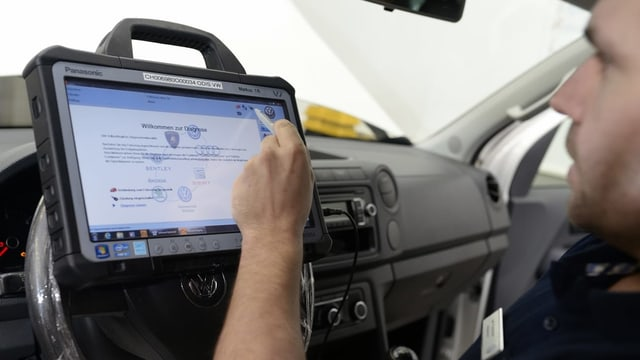Software in VW-Auto.