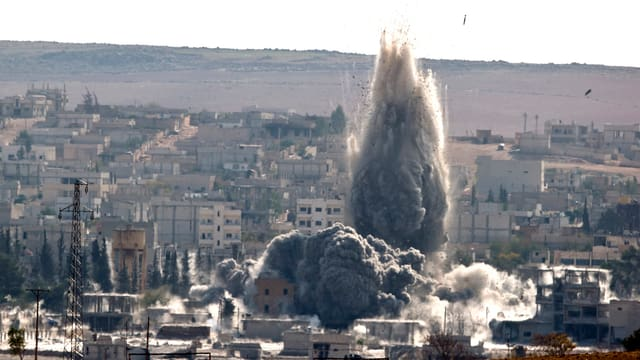 Kurden halten Kobane