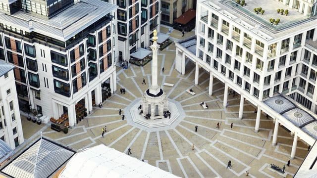 Pater Noster Square in London von oben
