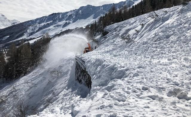 La lavina 19b dals 5 d'avrigl 2019 ca. 200m en via tranter Pian Segno e Campra.