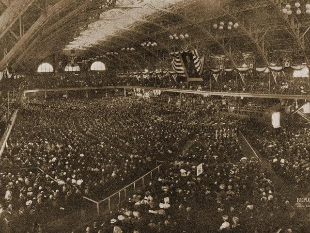 Zu sehen ist der Parteitag der Republikaner 1908 in Chicago.