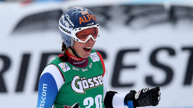 In Sölden freute sich Dominique Gisin über Rang 4 - ob es in Lake Louise gar auf das Podest reicht?