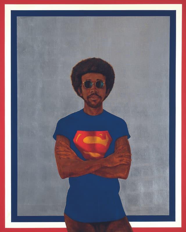 Barkley L. Hendricks: «Icon for My Man Superman (Superman Never Saved any Black People - Bobby Seale)», 1969.